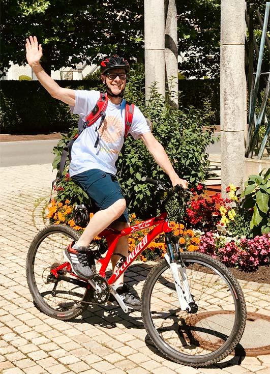 Hans auf dem Fahrrad
