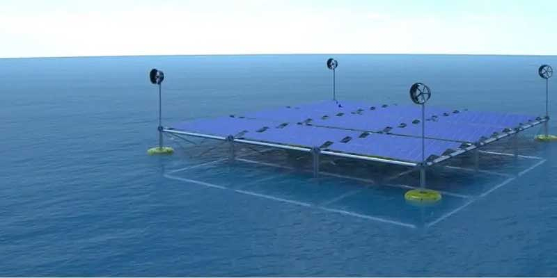 Meereswellen Plattform